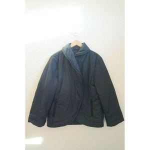 Like New J. JILL L Black Light Puffer Winter Coat
